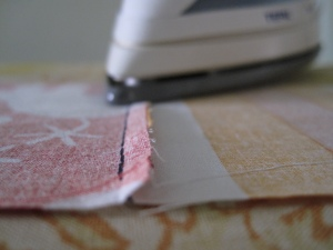 Pressing seams flat and to the side
