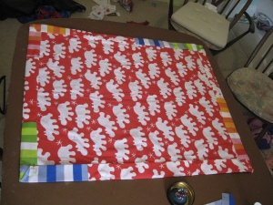 Pinned and ready to be sewn up