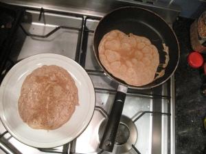 Mix a pancake, stir a pancake, pop it in the pan...