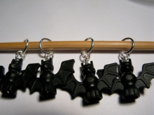 Bat stitch markers