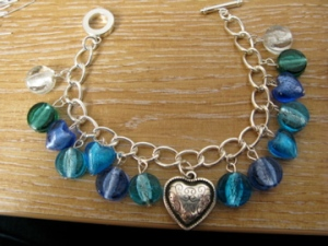 Glass bead bracelet 1